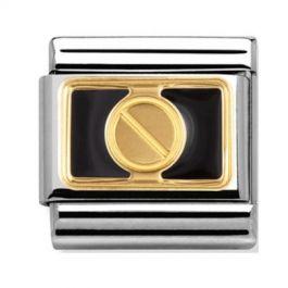 Nomination Link composable classic élégance vis or contour noir
