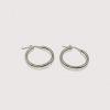 Silvex Boucles d'oreilles créoles tubes petites