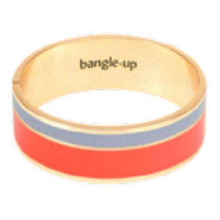 BANGLE UP Bracelet Vaporetto Paprika et Gris Perl T1