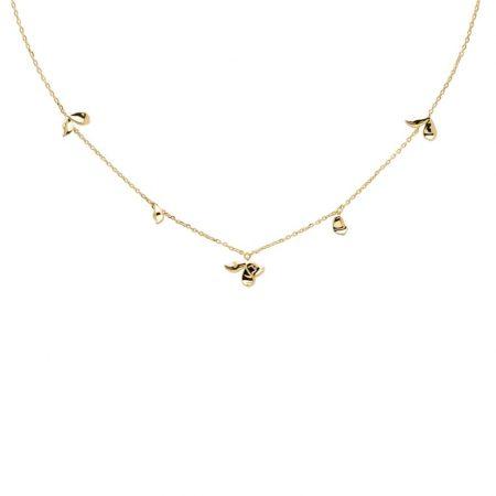 PDPAOLA Collection BLOSSOM - JASMINE GOLD - Collier en argent doré.