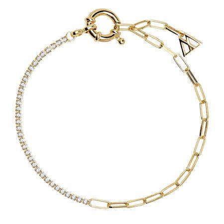 PDPAOLA Collection DAZE - MIRAGE GOLD - Bracelet en argent doré avec oxydes de zirconium.