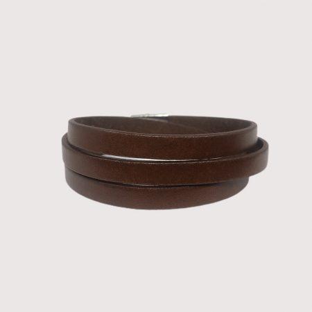 Silvex Bracelet cuir double tours