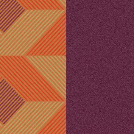 Les Georgettes Cuir motif Rythme/Violet