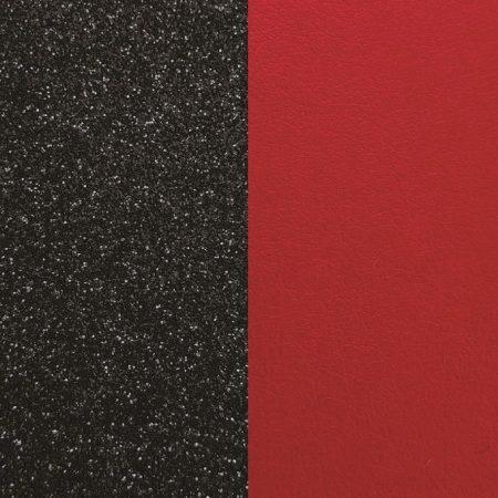 Les Georgettes Cuir Paillettes Noires / Rouge
