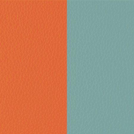 Les Georgettes Cuir Orange Lilium / Bleu Nimbus