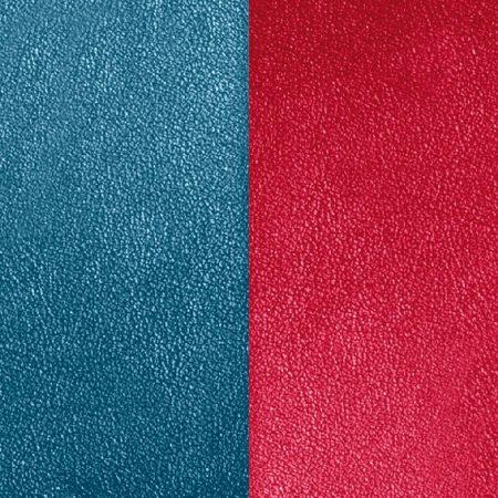 Les Georgettes Cuir Bleu Pétrole / Framboise