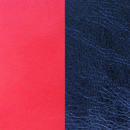 Les Georgettes Cuir Corail Soft/Bleu nuit