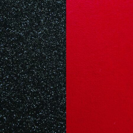 Les Georgettes Cuir Noir Pailletté/Rouge Soft