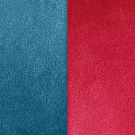 Les Georgettes Cuir Bleu Pétrole/Framboise