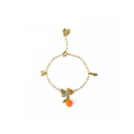 Les Néreides Bracelet doré fin orange