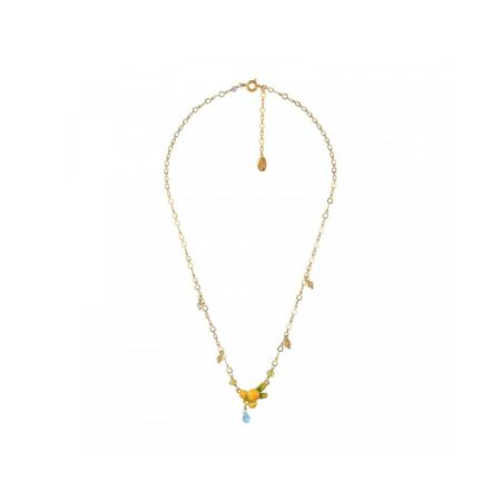 Les Néreides Collier doré avec pendentif fleur de mimosa