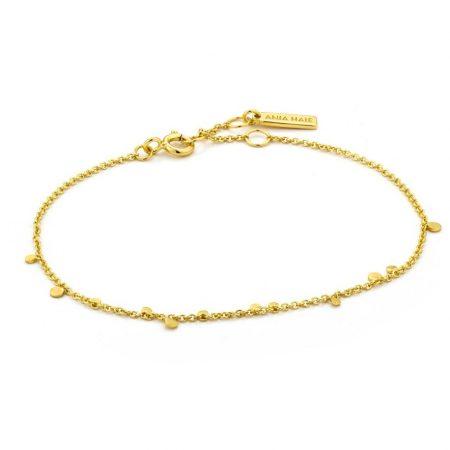 ANIA HAIE Bracelet disques mixtes géométrie dorée