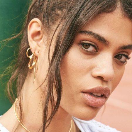ANIA HAIE Boucles d'oreilles dorées à anneaux torsadés