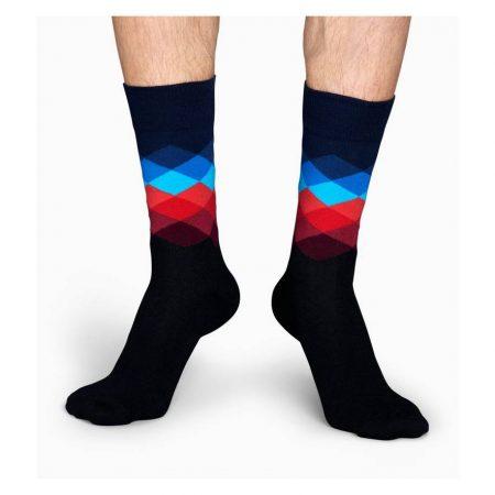 Happy Socks Faded Diamond Socks