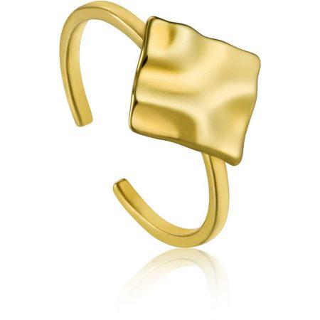 ANIA HAIE Bague ajustable carrée Gold Crush