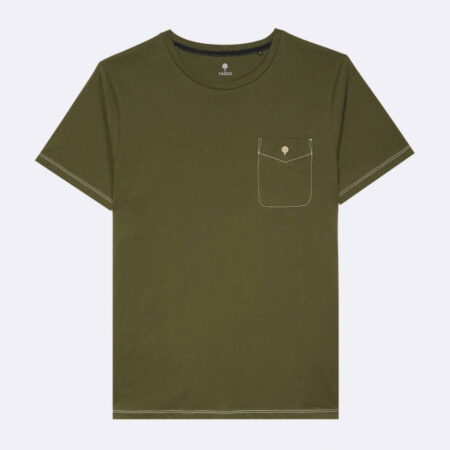 Faguo T-shirt col rond en coton recyclé
