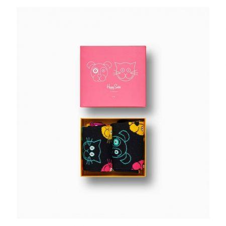 Happy Socks Cat VS Dog Gift Box 2-pack